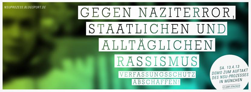 Demo: Greift ein gegen Naziterror, staatlichen und alltäglichen Rassismus – Verfassungsschutz abschaffen!