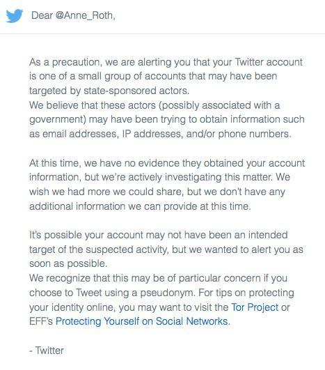 Twitter Warn-E-Mail englisch