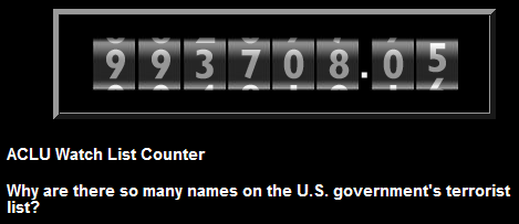 ACLU Watchlist Counter
