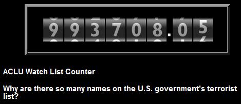 ACLU Watchlist Counter