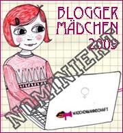 Nominierung Bloggermädchen 2009