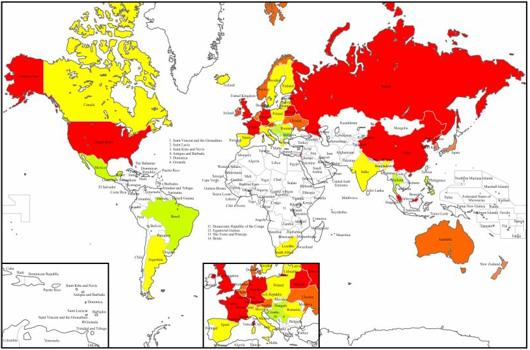 Karte elektronische Polizeistaaten