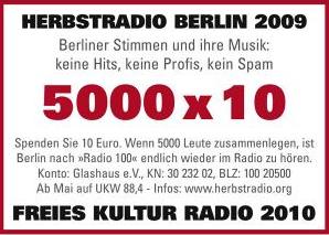 Spendenaufruf Herbstradio