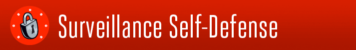 EFF Surveillance Self Defense Website Banner