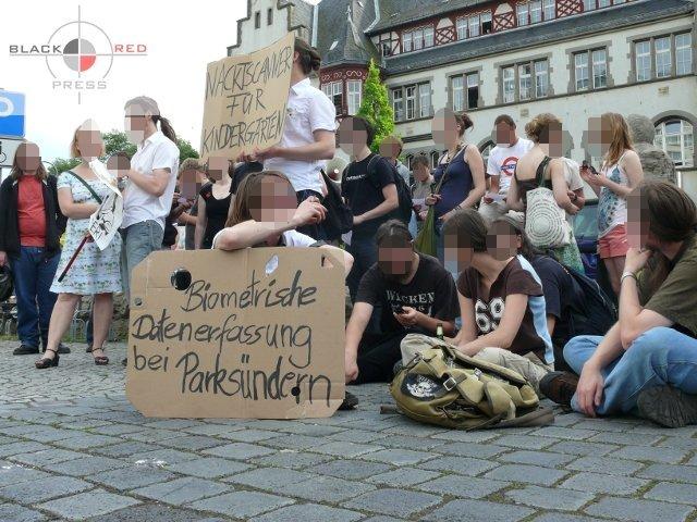 Protest gegen Schäuble in Jena