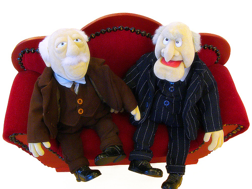 Statler & Waldorf, by andrewschreyer [at] ymail.com, http://www.flickr.com/photos/-sel-/60124583/ http://creativecommons.org/licenses/by-nc-sa/2.0/deed.en