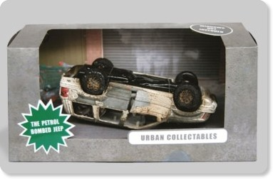 The petrol bombed Jeep by Urban Collectibles